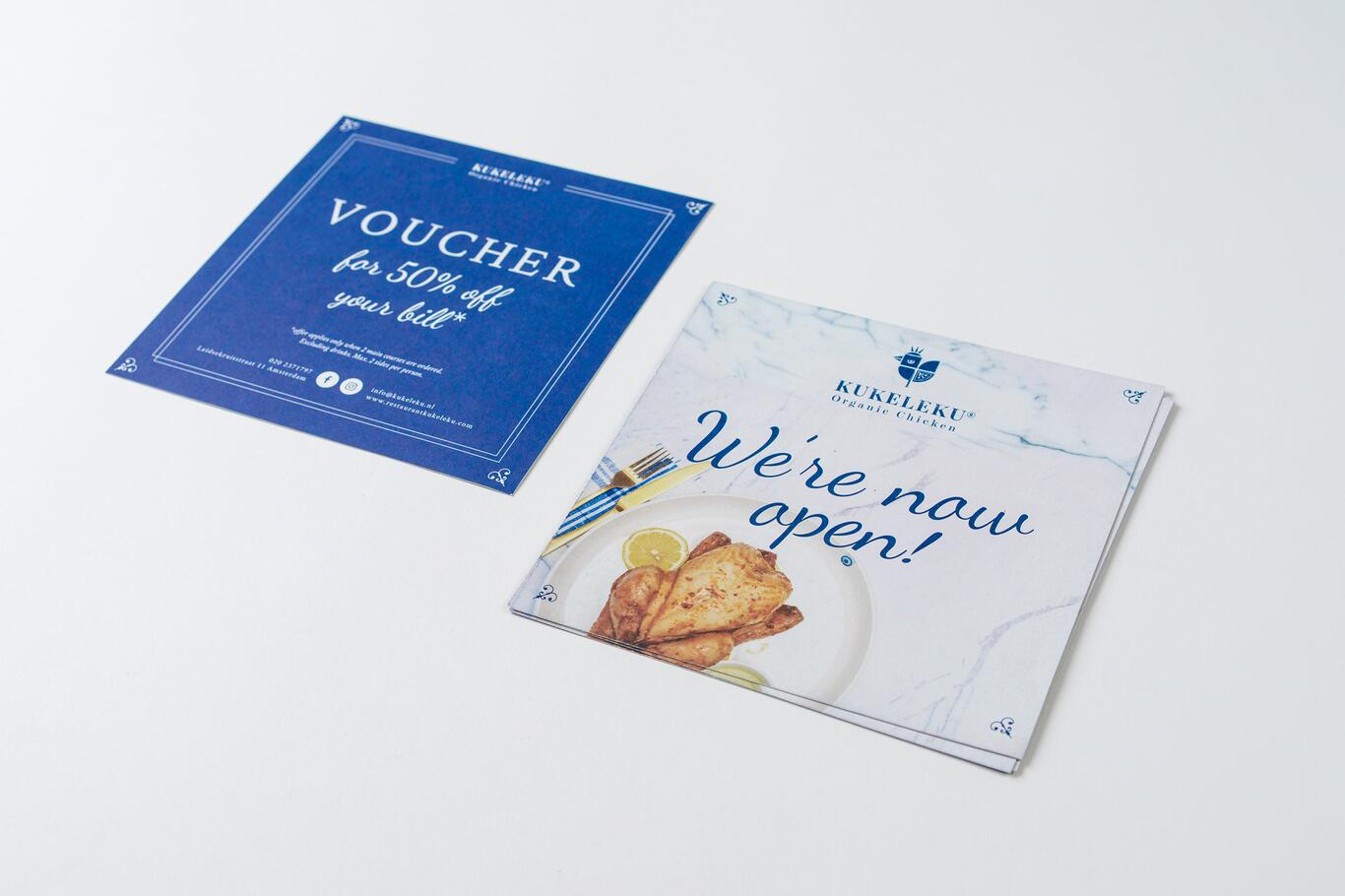 Voucher design for Kukeleku Restaurant, Amsterdam