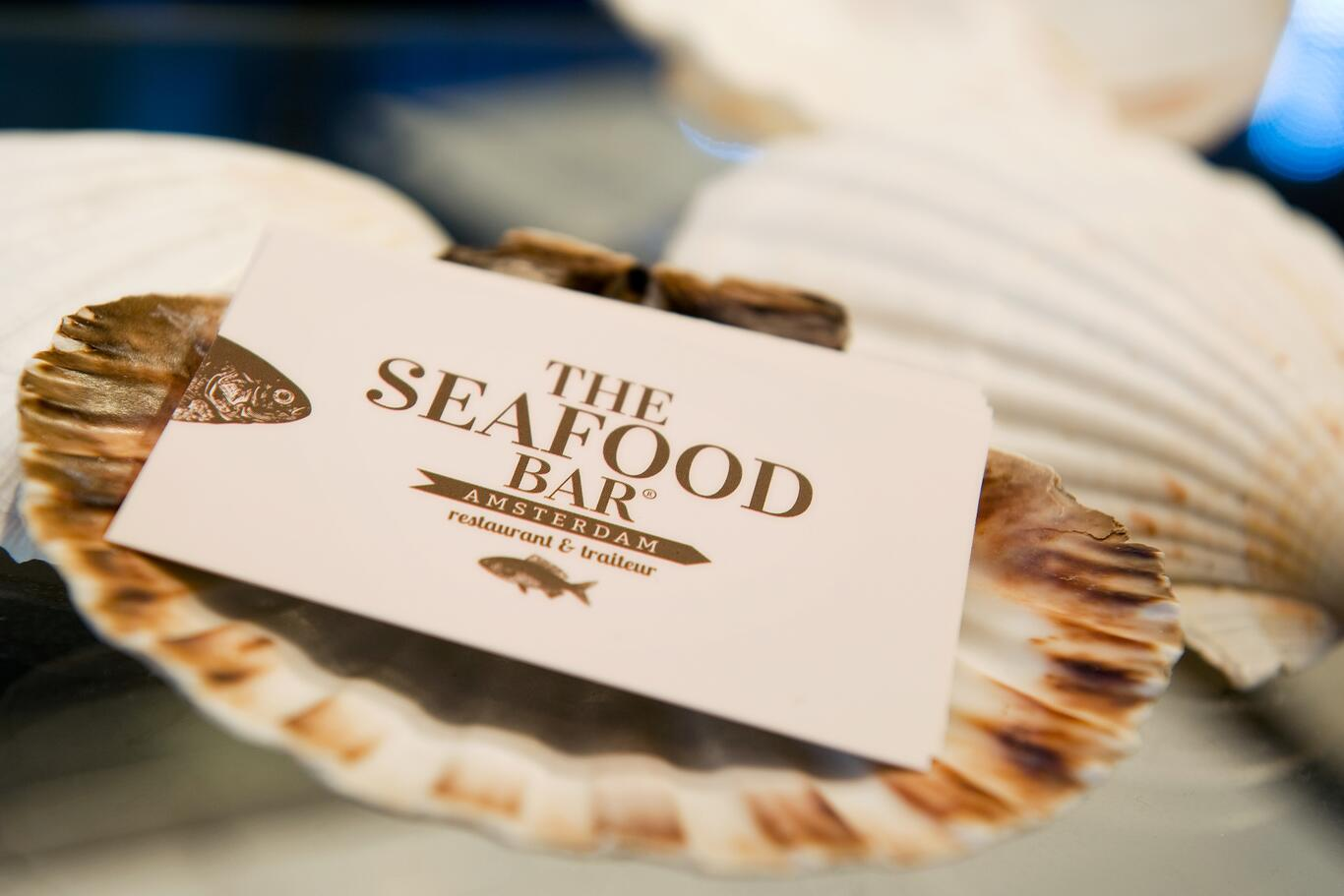 Business cards design for the seafood bar, Amsterdam