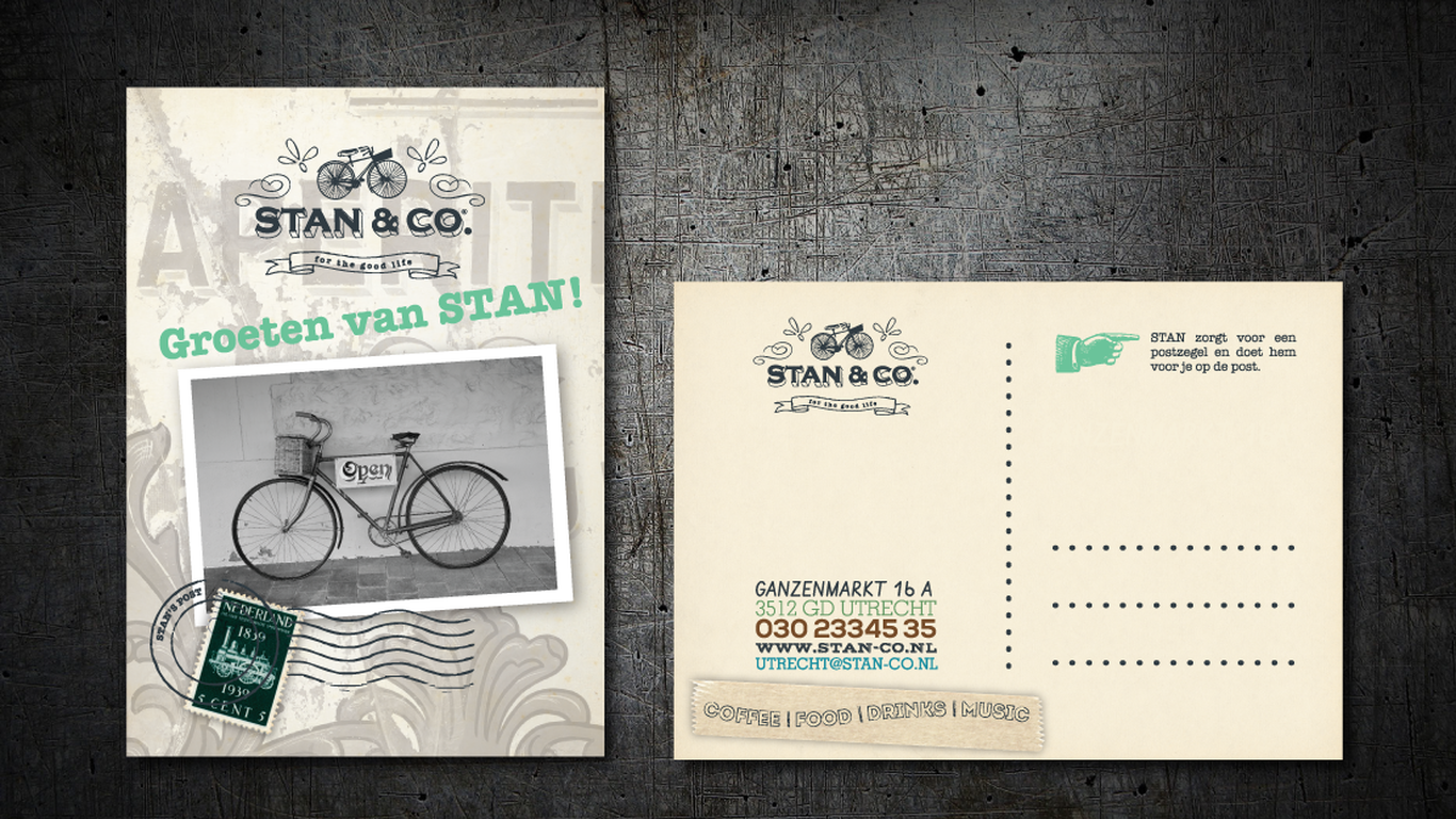 Postcards design for Stan&Co, Utrecht