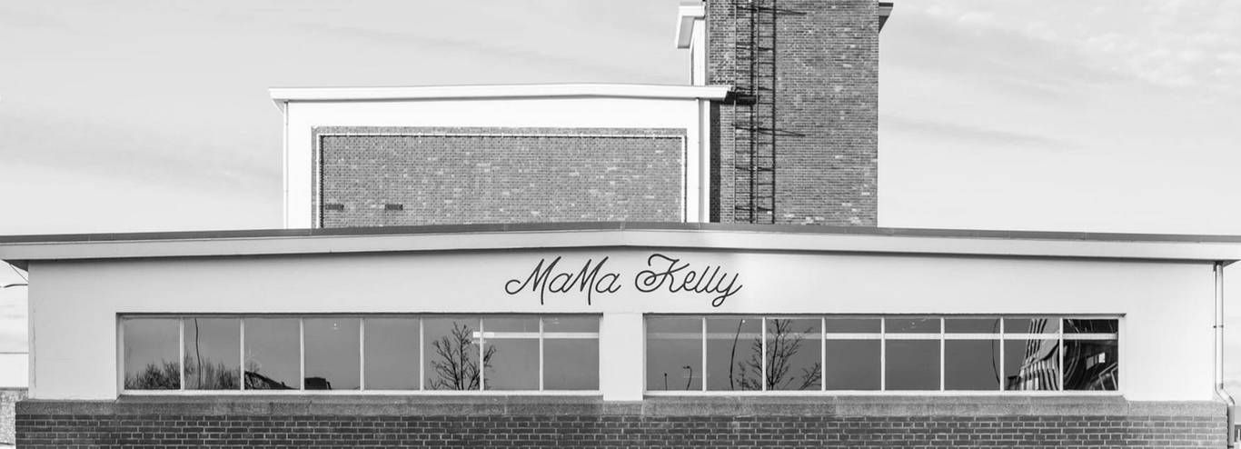 Photography of Mama Kelly facade with Logo design, The Hague