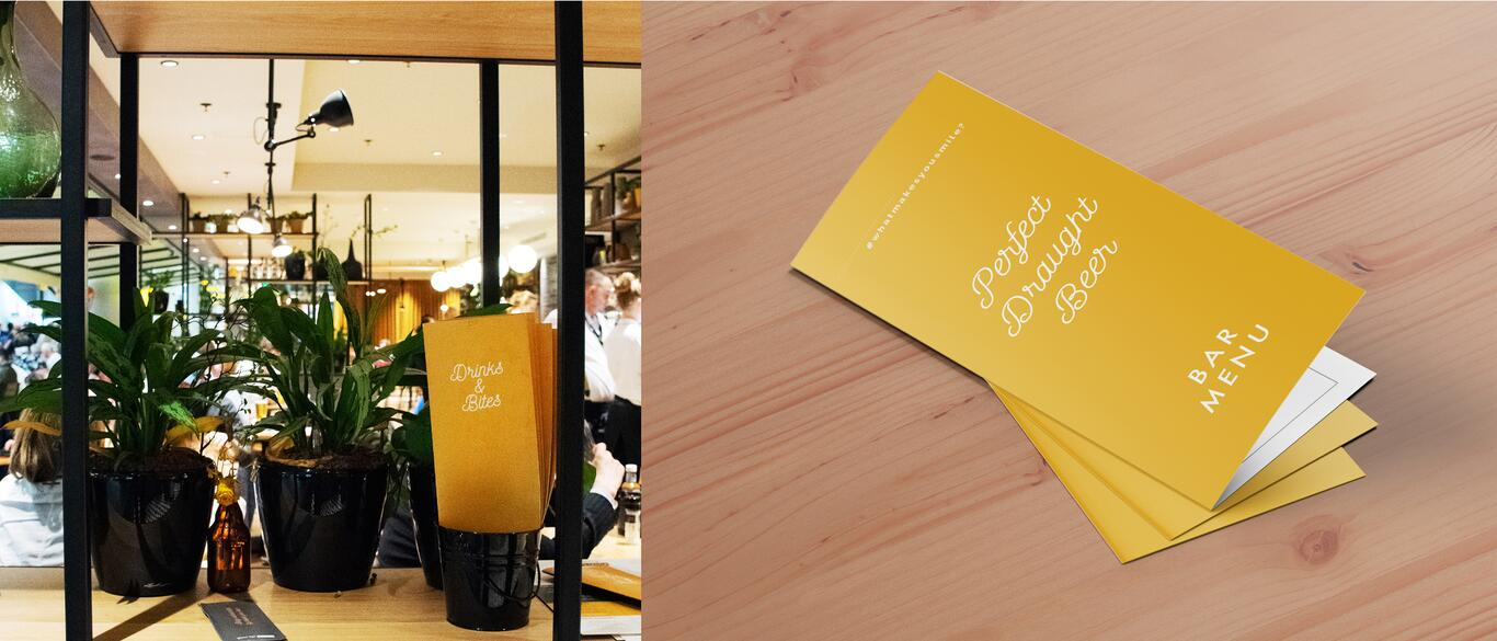 Menu design Grand Café Schiphol Plaza