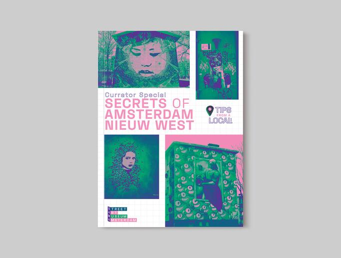 Cover design of a brochure for the Street Art Museum Amsterdam