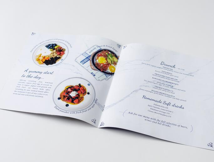 Menu booklet design for Kukeleku Restaurant, Amsterdam