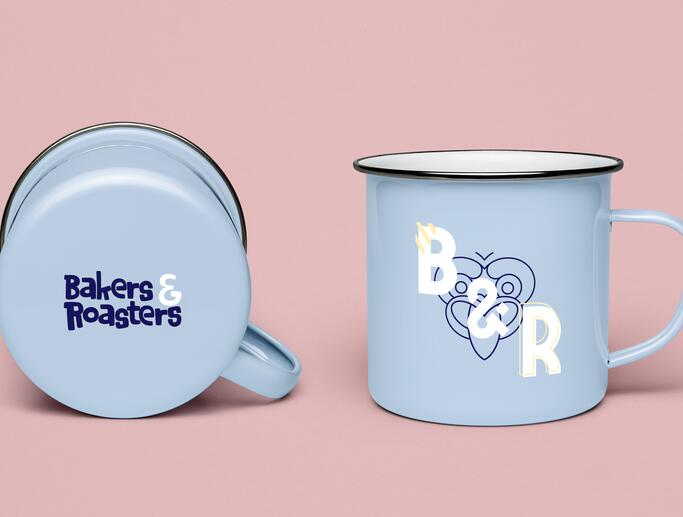 Mugs design for Bakers & Roasters