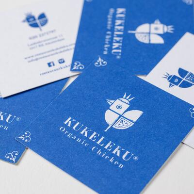 Business cards design design for Kukeleku Restaurant, Amsterdam