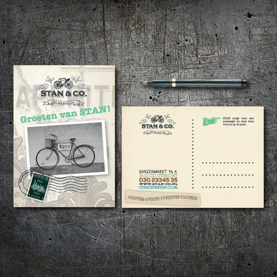 Promotional postcard design for Stan&Co, Utrecht