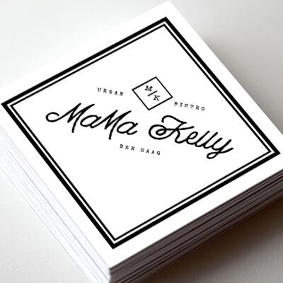 Business cards for Mama Kelly, The Hague